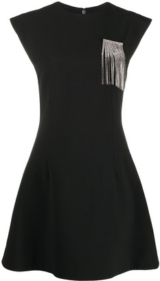 Christopher Kane Crystal-Chain Flared Dress