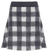 Balenciaga Wool And Mohair-blend A-line Skirt