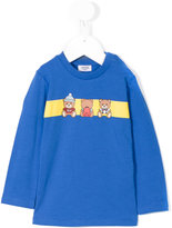 Moschino Kids bear print top and trousers set