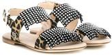 Florens fringed leopard print sandals
