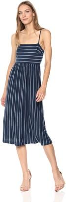 BCBGMAXAZRIA Azria Women's Vintage Stripe Twist-Back Sleeveless Dress