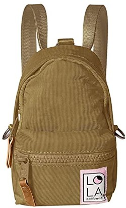 LOLA Cosmetics Stargazer Mini Convertible Backpack (Khaki) Backpack Bags