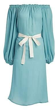 Eberjey Swim Women's Summer Of Love Savannah Off-The Shoulder Cover-Up Dress