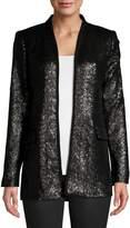 Calvin Klein Sequin Open-Front Jacket