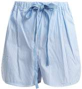 Fendi Striped cotton-poplin shorts