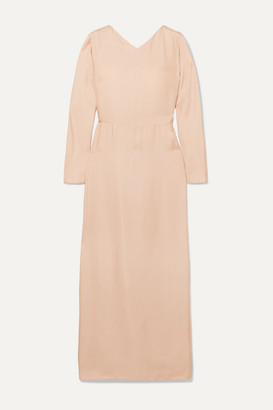 Deitas Demeter Knotted Silk-twill Maxi Dress - Pink