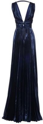 ZUHAIR MURAD Pleated Lurex Long Dress