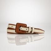 Ralph Lauren Leather Spectator Belt