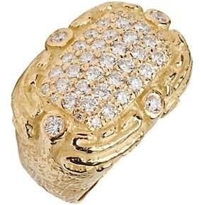 Katy Briscoe Coskey's Column 18K Yellow Gold & Diamond Medium Ring