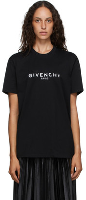 Givenchy Black Masculine Paris Logo T-Shirt