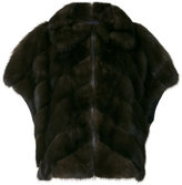 Liska short sleeve fur jacket