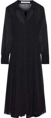 Rebecca Minkoff Kimberly Polka-dot Chiffon Midi Shirt Dress