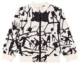 Noe & Zoe Berlin Black Ink Print Cotton Bomber Jacket