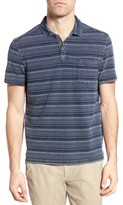 Jeremiah Men's Hopkins Stripe Jersey Pique Polo