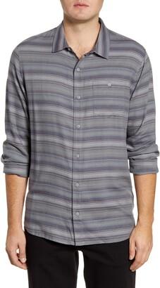 Travis Mathew TravisMathew Night and Day Regular Fit Stripe Button-Up Shirt
