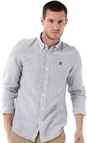 Timberland Mens Rattle River Striped Long Sleeve Shirt Dark Sapphire