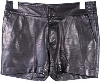 Les Petites Black Leather Shorts
