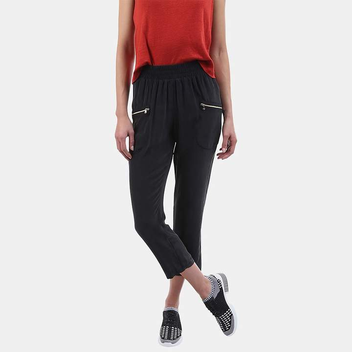 L'Agence Leigh Cropped Silk Cargo Pants