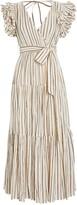 Ulla Johnson Lilliana Lurex Striped Voile Dress