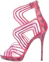 Jimmy Choo Mesh Platform Sandals