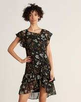 Max Studio Floral Ruffle Trim Dress