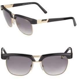 Cazal Half-Rim Aviator Sunglasses