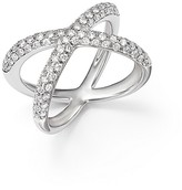 Bloomingdale's Diamond Pavé X Band Ring in 14K White Gold, 1.0 ct. t.w.
