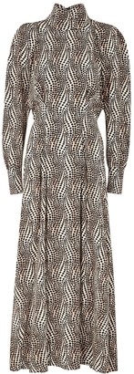 Isabel Marant Ikena Printed Stretch-silk Midi Dress