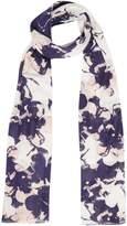 Linea Sabrina pansy print scarf