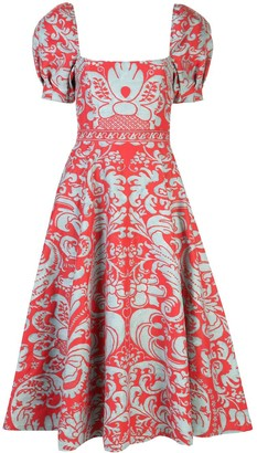 Alice + Olivia Baroque Print Dress