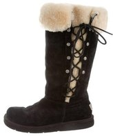 UGG Shearling Lace-Up Boots