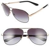 Dolce & Gabbana Women's 61Mm Aviator Sunglasses - Matte Black