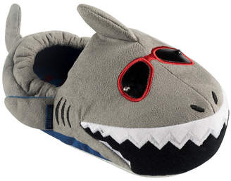 Stride Rite Little and Toddler Boys Lighted Shark Plush Slippers