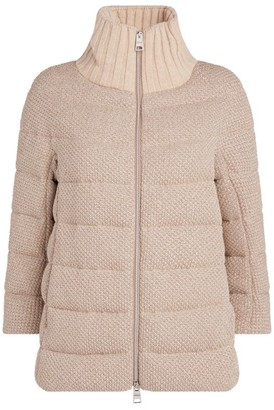 Herno Funnel-Neck Lurex Knit Jacket
