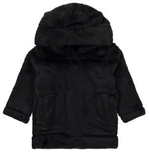 George Black Faux Fur Jacket