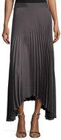 Ramy Brook Maxine Plissé; Handkerchief-Hem Skirt