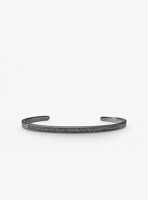 Michael Kors Black Rhodium-Plated Sterling Silver Pave Nesting Cuff