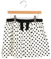 Milly Minis Girls' Polka Dot A-Line Skirt