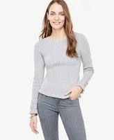 Ann Taylor Ruffle Cuff Boatneck Sweater
