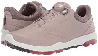 Ecco Biom Hybrid 3 Boa (Grey/Rose Petal) Women's Golf Shoes
