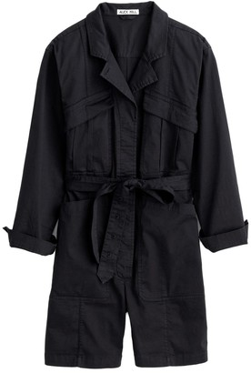 Alex Mill Expedition Short Jumpsuit in Black