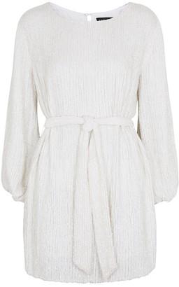 retrofete Grace White Sequin Mini Dress