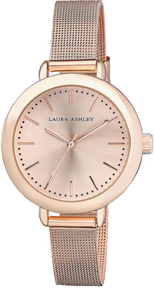 Laura Ashley Women's Watches - Rose Goldtone Mesh Bracelet Watch
