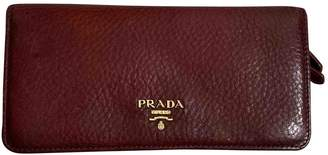 Prada Burgundy Leather Wallets