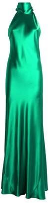 Galvan Sienna Satin Tie-Neck Dress