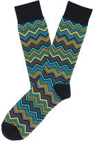 Perry Ellis Herringbone Chevron Sock