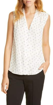 Rebecca Taylor Tailored by Clover Silk Blend Blouse