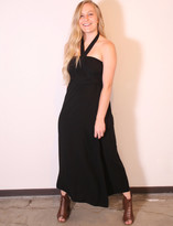 Tysa Tie Up Tube Dress In Black