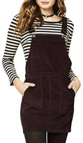 hodoyi Womens Corduroy Sleeveless Solid Overall Pinafore Dress(L,)