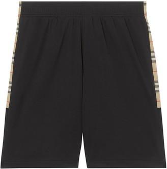 Burberry Vintage Check trim track shorts